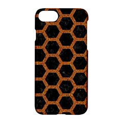 Hexagon2 Black Marble & Rusted Metal (r) Apple Iphone 7 Hardshell Case by trendistuff