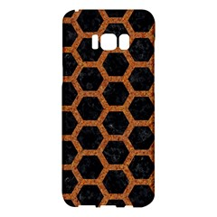 Hexagon2 Black Marble & Rusted Metal (r) Samsung Galaxy S8 Plus Hardshell Case  by trendistuff