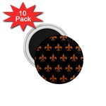 ROYAL1 BLACK MARBLE & RUSTED METAL 1.75  Magnets (10 pack)