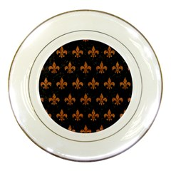 Royal1 Black Marble & Rusted Metal Porcelain Plates by trendistuff
