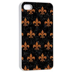Royal1 Black Marble & Rusted Metal Apple Iphone 4/4s Seamless Case (white) by trendistuff