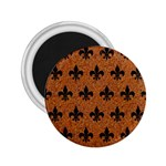 ROYAL1 BLACK MARBLE & RUSTED METAL (R) 2.25  Magnets