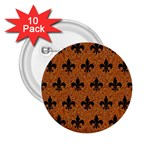 ROYAL1 BLACK MARBLE & RUSTED METAL (R) 2.25  Buttons (10 pack)