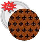 ROYAL1 BLACK MARBLE & RUSTED METAL (R) 3  Buttons (10 pack)