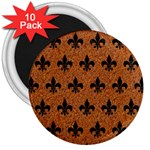 ROYAL1 BLACK MARBLE & RUSTED METAL (R) 3  Magnets (10 pack)