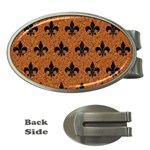 ROYAL1 BLACK MARBLE & RUSTED METAL (R) Money Clips (Oval)