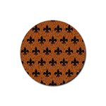 ROYAL1 BLACK MARBLE & RUSTED METAL (R) Rubber Coaster (Round)