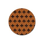 ROYAL1 BLACK MARBLE & RUSTED METAL (R) Magnet 3  (Round)
