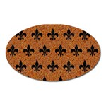 ROYAL1 BLACK MARBLE & RUSTED METAL (R) Oval Magnet