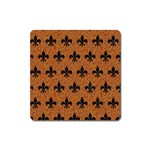 ROYAL1 BLACK MARBLE & RUSTED METAL (R) Square Magnet