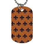 ROYAL1 BLACK MARBLE & RUSTED METAL (R) Dog Tag (Two Sides)