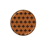ROYAL1 BLACK MARBLE & RUSTED METAL (R) Hat Clip Ball Marker