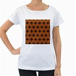 ROYAL1 BLACK MARBLE & RUSTED METAL (R) Women s Loose-Fit T-Shirt (White)