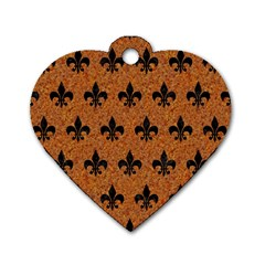 Royal1 Black Marble & Rusted Metal (r) Dog Tag Heart (two Sides) by trendistuff