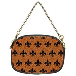ROYAL1 BLACK MARBLE & RUSTED METAL (R) Chain Purses (One Side)