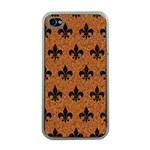 ROYAL1 BLACK MARBLE & RUSTED METAL (R) Apple iPhone 4 Case (Clear)