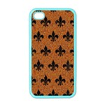 ROYAL1 BLACK MARBLE & RUSTED METAL (R) Apple iPhone 4 Case (Color)