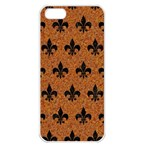 ROYAL1 BLACK MARBLE & RUSTED METAL (R) Apple iPhone 5 Seamless Case (White)
