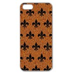 ROYAL1 BLACK MARBLE & RUSTED METAL (R) Apple Seamless iPhone 5 Case (Clear)