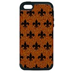 ROYAL1 BLACK MARBLE & RUSTED METAL (R) Apple iPhone 5 Hardshell Case (PC+Silicone)