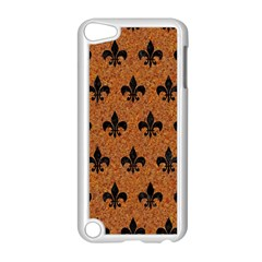 Royal1 Black Marble & Rusted Metal (r) Apple Ipod Touch 5 Case (white) by trendistuff