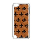 ROYAL1 BLACK MARBLE & RUSTED METAL (R) Apple iPod Touch 5 Case (White)
