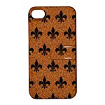 ROYAL1 BLACK MARBLE & RUSTED METAL (R) Apple iPhone 4/4S Hardshell Case with Stand