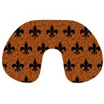 ROYAL1 BLACK MARBLE & RUSTED METAL (R) Travel Neck Pillows