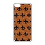 ROYAL1 BLACK MARBLE & RUSTED METAL (R) Apple iPhone 5C Seamless Case (White)