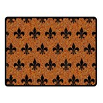ROYAL1 BLACK MARBLE & RUSTED METAL (R) Double Sided Fleece Blanket (Small)