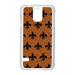 ROYAL1 BLACK MARBLE & RUSTED METAL (R) Samsung Galaxy S5 Case (White)
