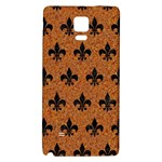 ROYAL1 BLACK MARBLE & RUSTED METAL (R) Galaxy Note 4 Back Case