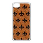ROYAL1 BLACK MARBLE & RUSTED METAL (R) Apple iPhone 7 Seamless Case (White)