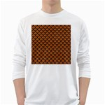 SCALES1 BLACK MARBLE & RUSTED METAL White Long Sleeve T-Shirts