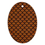 SCALES1 BLACK MARBLE & RUSTED METAL Oval Ornament (Two Sides)