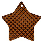 SCALES1 BLACK MARBLE & RUSTED METAL Star Ornament (Two Sides)
