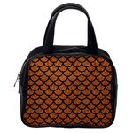 SCALES1 BLACK MARBLE & RUSTED METAL Classic Handbags (One Side)