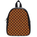 SCALES1 BLACK MARBLE & RUSTED METAL School Bag (Small)
