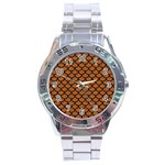 SCALES1 BLACK MARBLE & RUSTED METAL Stainless Steel Analogue Watch