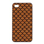 SCALES1 BLACK MARBLE & RUSTED METAL Apple iPhone 4/4s Seamless Case (Black)