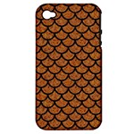 SCALES1 BLACK MARBLE & RUSTED METAL Apple iPhone 4/4S Hardshell Case (PC+Silicone)