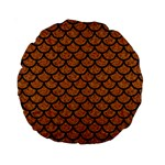 SCALES1 BLACK MARBLE & RUSTED METAL Standard 15  Premium Round Cushions