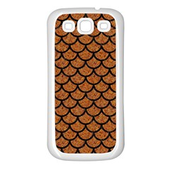 Scales1 Black Marble & Rusted Metal Samsung Galaxy S3 Back Case (white) by trendistuff