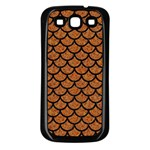 SCALES1 BLACK MARBLE & RUSTED METAL Samsung Galaxy S3 Back Case (Black)