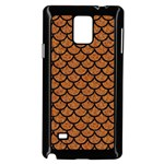 SCALES1 BLACK MARBLE & RUSTED METAL Samsung Galaxy Note 4 Case (Black)