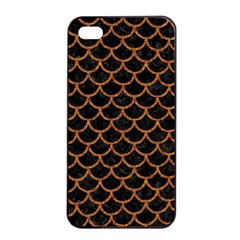 Scales1 Black Marble & Rusted Metal (r) Apple Iphone 4/4s Seamless Case (black) by trendistuff