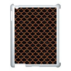 Scales1 Black Marble & Rusted Metal (r) Apple Ipad 3/4 Case (white) by trendistuff