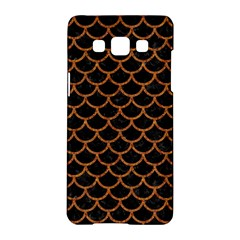 Scales1 Black Marble & Rusted Metal (r) Samsung Galaxy A5 Hardshell Case  by trendistuff