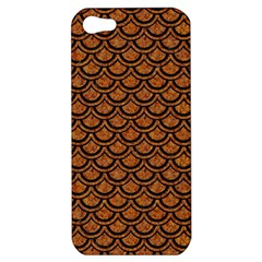 Scales2 Black Marble & Rusted Metal Apple Iphone 5 Hardshell Case by trendistuff