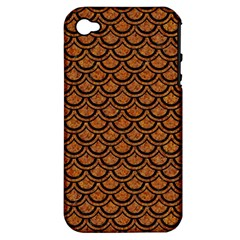 Scales2 Black Marble & Rusted Metal Apple Iphone 4/4s Hardshell Case (pc+silicone) by trendistuff
